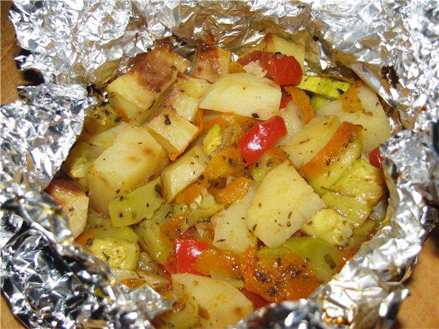 Овощи в духовке запеченные рецепты в фольге